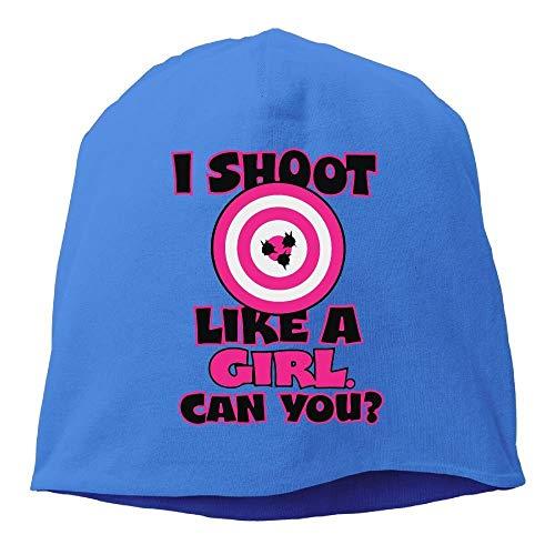 Cappello Lavorato a Maglia Traspirante da Uomo e da Donna, I Shoot Like A Girl Ski cap per Uomo e Donna