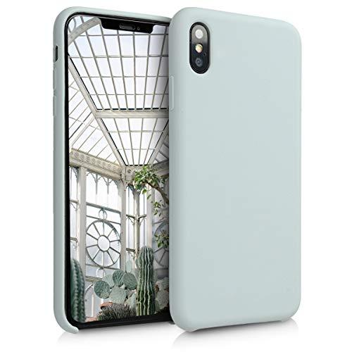kwmobile Hülle kompatibel mit Apple iPhone XS Max - Handyhülle gummiert - Handy Case in Hellgrau matt