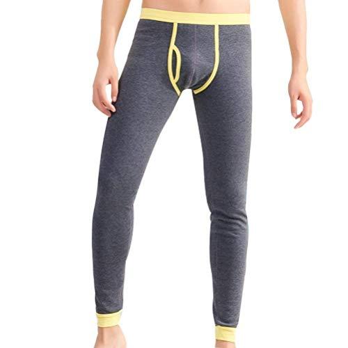 HaiDean goede mannen onderkleding warme nonchalant moderne thermische broek dikke fleece lind broek elastisch skinny sportbroek joggingbroek