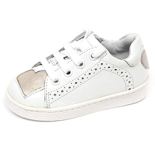 E8886 Sneaker Bimba Girl Twin-Set White/Silver Scarpe Shoe Baby [22]