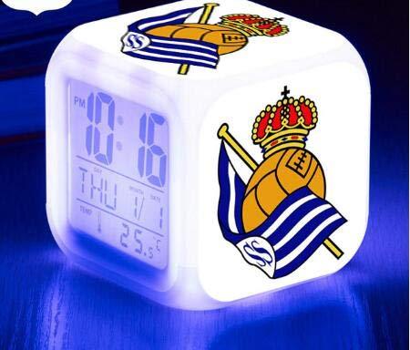 BMSYTY Sportlicher LED-Wecker/Rugby 7-farbig blinkendes Digitaluhrspielzeug