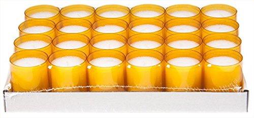 Sovie Refill Kerzen 24 orange Teelichter mit extra Langer Brenndauer (24h) für Feiern/Party/Gastronomie