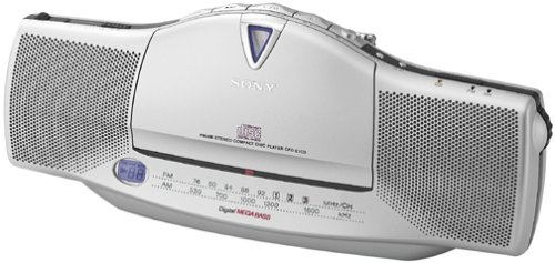 Sony CFD-E10 Slim-Line Portable FM/AM/CD Player with CD-R/RW Playback