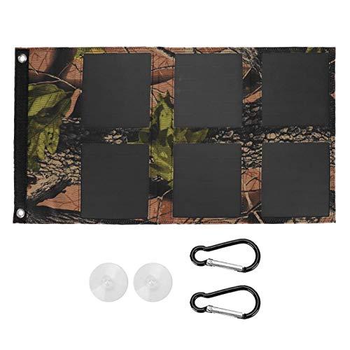 Cargador Solar de Panel Solar Impermeable portátil de Doble USB Ligero de Gran Capacidad de Alta eficiencia para Camping para teléfono móvil