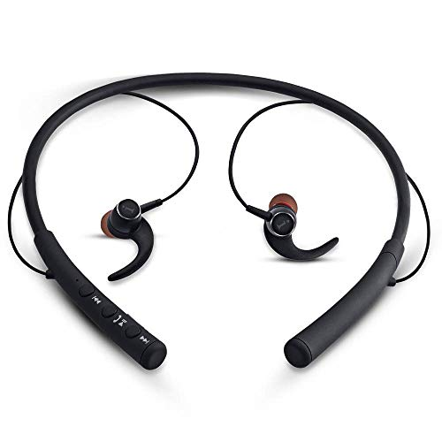 iBall EarWear Base BT 5.0 Neckband Earphone with Mic and 12 Hours Battery Life (Black)