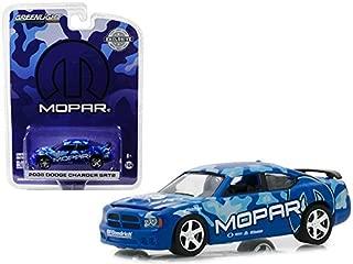 2008 Dodge Charger SRT8 Mopar LigthBlue/Blue Hobby Exclusive 1:64 Diecast Model Car by Greenlight 29961