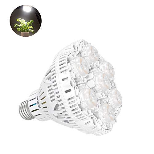 SANSI - Bombilla LED de 36 W para Plantas, Espectro Completo lámparas para Cultivo Interior, E27 Bombilla para Plantas luz Solar Blanca para jardín, Invernadero