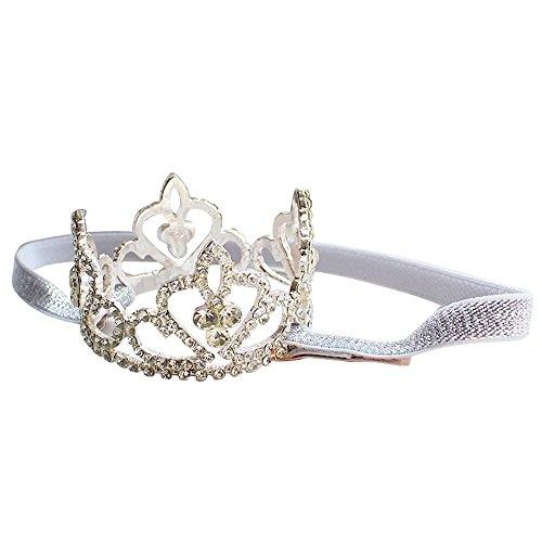MAKFORT Baby Krone Haarband Crystal Elastisch Prinzessin Haarschmuck