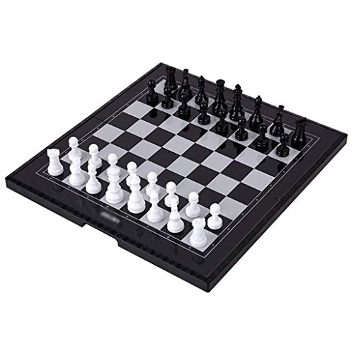 XLAHD Portable Chess Set,Chess Chess Plastic Chess, Magnetic Travel Chess Set With FolChess Board Educational Toys For Birthday chess set