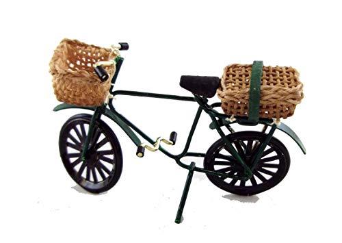 Melody Jane Miniature Maison Poupées Fait Main 1:12 Années 1940 Vélo Enfant avec Panier et Sacoche