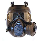 haoYK Tactical Mask, Airsoft CS Game Mask with Turbo Fan Paintbal Protection Gear Sunglasses (Black)