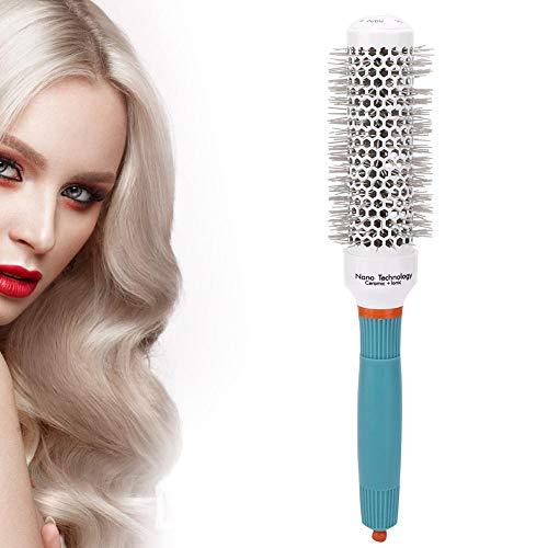 Cepillo profesional de cilindro de pelo rizado, cepillo de peine de peluquería de nylon Cepillo de barril de plástico Cepillo redondo de secado para peinado y secado(#32)