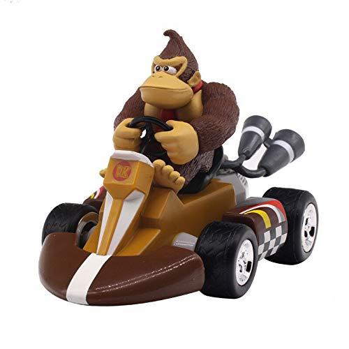 Haus Dekoration Super Mario Bros Abbildungen 13cm Japan Anime Luigi Dinosaurier Eselkong Bowser Kart Zurück Auto PVC Kinder Hot Toys for Jungen (Color : Donkey Kong)