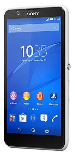 Sony Xperia E4 Smartphone (12,7 cm (5 Zoll) IPS-Display, 1,3 GHz-Quad-Core-Prozessor, 5 Megapixel-Kamera, Android 4.4) Weiß