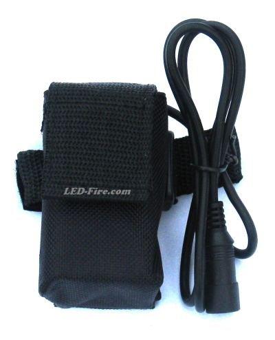 Ersatz Akku Li-Ion 4,4Ah (4 * 18650 Akku) + Tasche für Magicshine.eu - bikelight.eu - LED-Fire.com und andere LED-Lampen mit 7,2V und diesem Stecker von LED-Fire.com