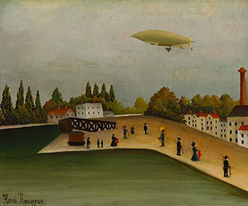 Vue du Quai d'Ovry par Henri Julien Rousseau. 100% peint à la main. Reproduction de haute qualité. Livraison gratuite (non encadrée et non étirée). Taille de la peinture: 106x33\