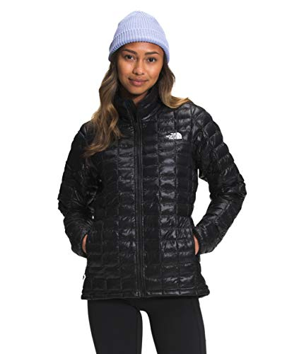 The North Face Women's Thermoball Eco Insulated Jacket - Fall or Winter Coat, TNF Black Shine, L