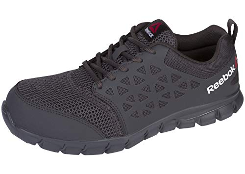 Reebok Work Mens Sublite Cushion Work Composite Toe EH Shoes Casual Work & Safety Shoes, Grey, 8.5
