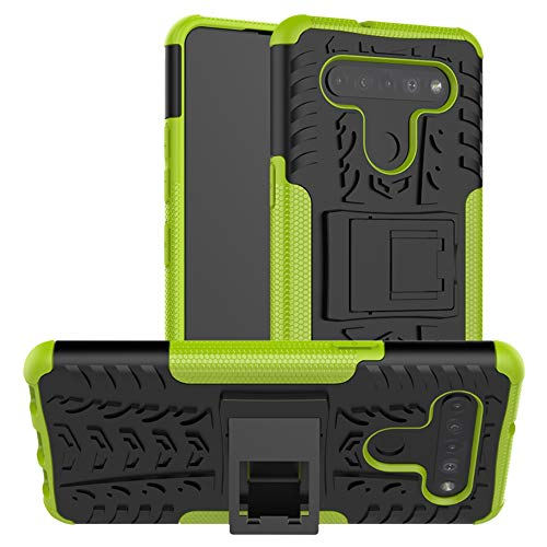 LiuShan Kompatibel mit LG K51S Hülle,LG K41S Hülle, Dual Layer Hybrid Handyhülle Drop Resistance Handys Schutz Hülle mit LG K51S /LG K41S Smartphone,Grüne