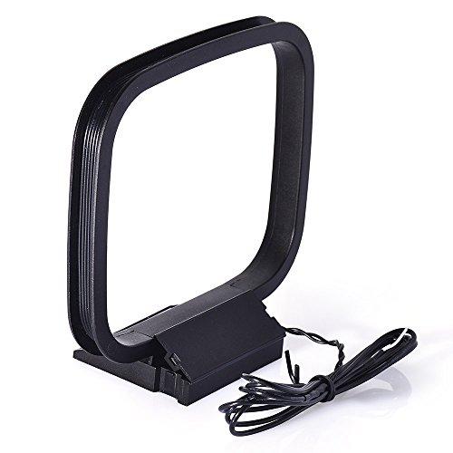 Bingfu Antena AM Bucle Interior con 2 Conectores de Cable Desnudo para...