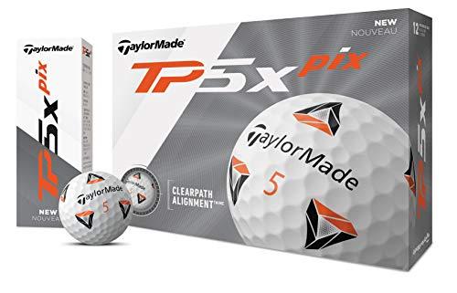 TaylorMade TP5x Pelotas de Golf, Unisex Adulto, Pelota de Golf, Blanco, Talla única