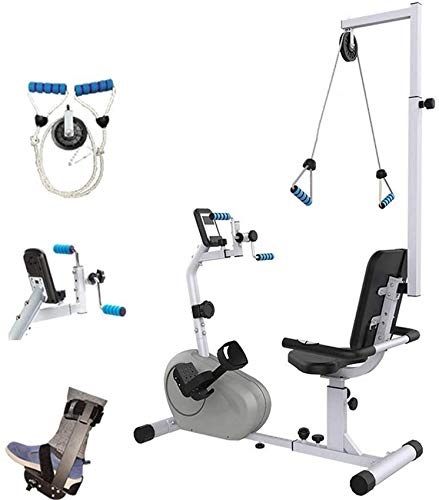 Sywlwxkq Recumbent Exercise Bike with Adjustable Resistance, Motorized Leg and Arm Pedal Exerciser, Stroke Rehabilitation Equipment Upper and Lower Extremity Physiotherapy
