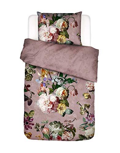 ESSENZA Bettwäsche Fleur Blumen Baumwollsatin Woodrose, 135x200 + 1x 80x80 cm