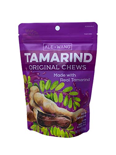 ALE + WANG Tamarind Original Chews | Made with 100% Natural Dried Sweet Tamarind | Great Alternative to Herbal Fruits (1-Pound Bag)