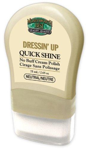 Moneysworth & Best Shoe Care Quick Shine Shoe Cream, Neutral, 2.64-Ounce
