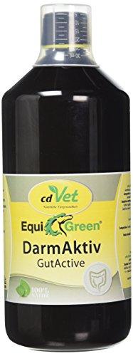cdVet Naturprodukte EquiGreen DarmAktiv Pferd 1 Liter - Unterstützung der Darmkondition - Verdauungsprobleme - Darmflora - Immunsystem - wertvolle Milchsäuren+Antioxidantien+Enzyme+Vitamine -