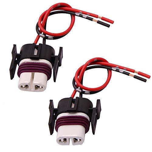 GZXY H11 H8 880 881 High Temperature Ceramic Wire Harness Socket Female Adapter for Headlight Fog Light 2 pcs