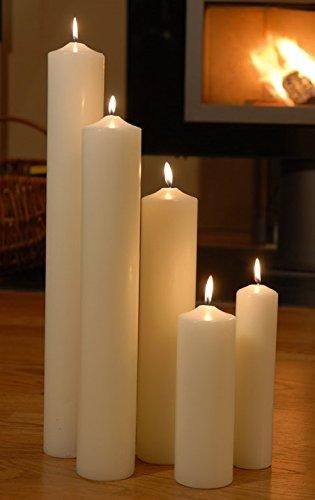 Bougies couleur ivoire kirchenkerzen crème 100 x 600 mm