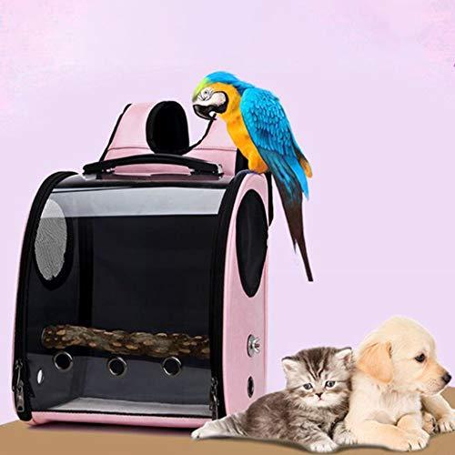 KSIASGDHA Cani Gatto e Altri Animali Domestici Multifunzionale Durevole Borsa da Viaggio per portapappe Parrot Space Capsule Cover Trasparente Zaino Traspirante