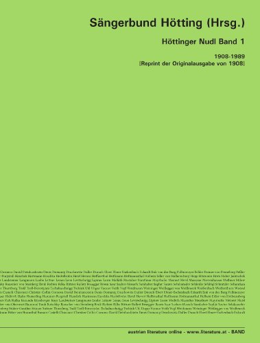 Höttinger Nudl Band 1: 1908-1989 [Reprint der Originalausgabe von 1908]