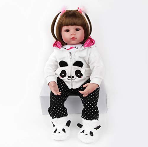 Antboat Muñeca Reborn Baby Doll Niña Realista 24 Pulgada 60cm Hermosa Muñeca Silicona Hecho a Mano Bebe Reborn Toddler Recien Nacido