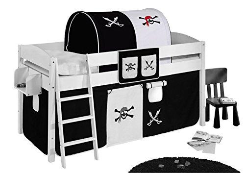 Lilokids Tunnel Pirat Schwarz Weiß - für Hochbett, Spielbett und Etagenbett