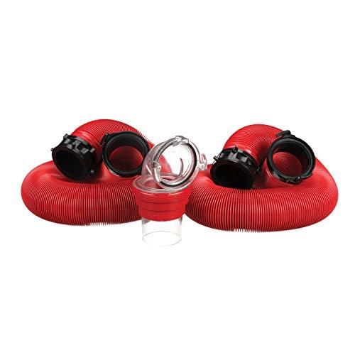 Valterra EZ Coupler 20-Foot RV Sewer Hose Kit, Universal Sewer Hose for RV Camper, Includes 2...