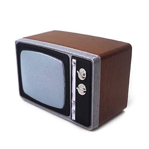 LOVEYue Resina Retro TV Modelo Miniatura 1/12 Casa De Muñecas Electrodomésticos Decoración De Sala Juego De Regalo De Juguete De Casa De Muñecas DIY Televisión