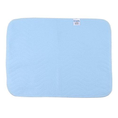 Ruiqas Bed Mat Bedbevochtiging Onderleggers, 2 stks Herbruikbare Wasbare Pad Zachte Herbruikbare Waterdichte Bedmatten