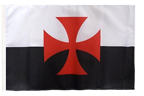 Flagge / Fahne Kreuzritter Kreuz + gratis Sticker, Flaggenfritze®