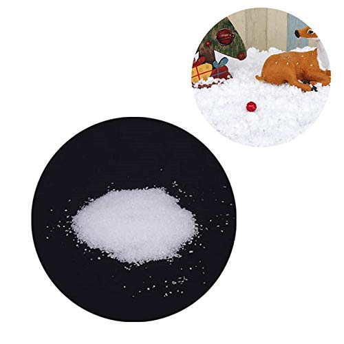 Artificial Fluffy Snow Powder, DIY Artificial Fake Snow Reusable Instant Magic Snow Powder For Christmas Holiday House Decoration Children Toys