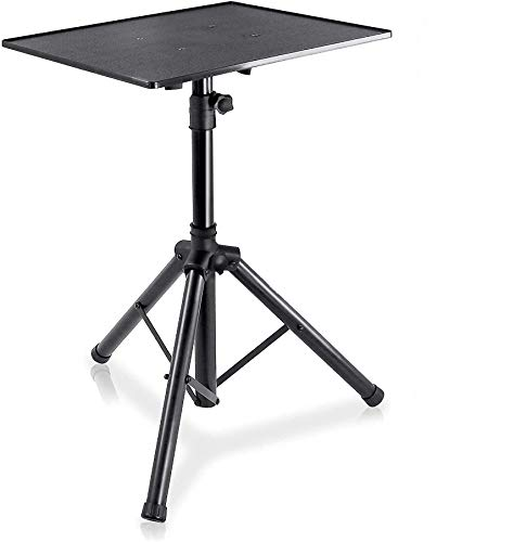 Pro DJ Laptop, Projector Stand - Adjustable Laptop Stand, Computer DJ Equipment Studio Stand Mount Holder, Height Adjustable, Laptop Projector Stand, 23' to 41', Good For Stage or Studio - Pyle (PLPTS3)