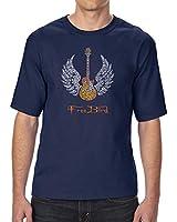 LA POP ART Men's Tall and Long Word Art T-Shirt - Lyrics to Freebird Navy