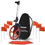 Measuring Wheel with Handle Brake 10,000Ft Rolling Tape Measure Wheel Measuring Tool Zozen Foldable Distance Measuring Wheel in Feet
