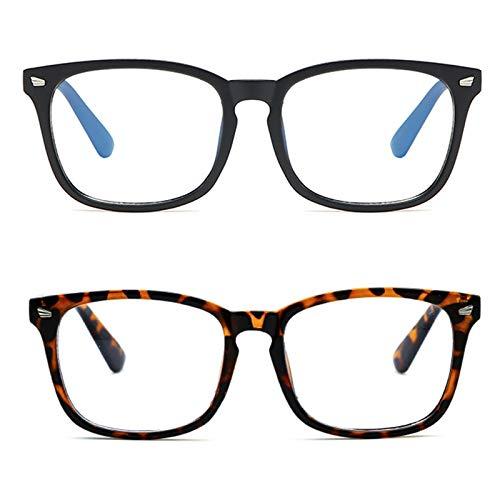 occhiali antiaffaticamento uomo MMOWW Occhiali anti luce blu donna uomo Confezione da 2 - anti affaticamento degli occhi e mal di testa