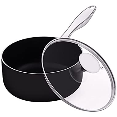 Utopia Kitchen Saucepan - 2 Quarts - 18/10 Stainless Steel Handle - with Cover - 18 x 9 cm - Multipurpose Use for Home Kitchen or Restaurant - Chef's Choice