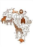 igsticker ポスター ウォールステッカー シール式ステッカー 飾り 594×841㎜ A1 写真 フォト 壁 インテリア おしゃれ 剥がせる wall sticker poster 016062 動物 アフリカ 像 きりん