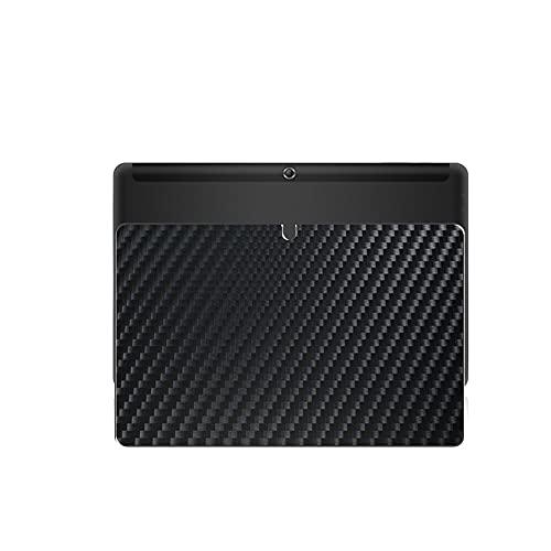 VacFun 2 Piezas Protector de pantalla Posterior, compatible con Trekstor SurfTab Duo W1 Volks-Tablet 10.1 inch, Película de Trasera de Fibra de carbono negra Skin Piel
