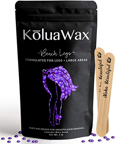 Hard Wax Beads for Hair Removal (Made for Legs) 1lb Hard Wax Beans Refill-KoluaWax Pearl Beads
