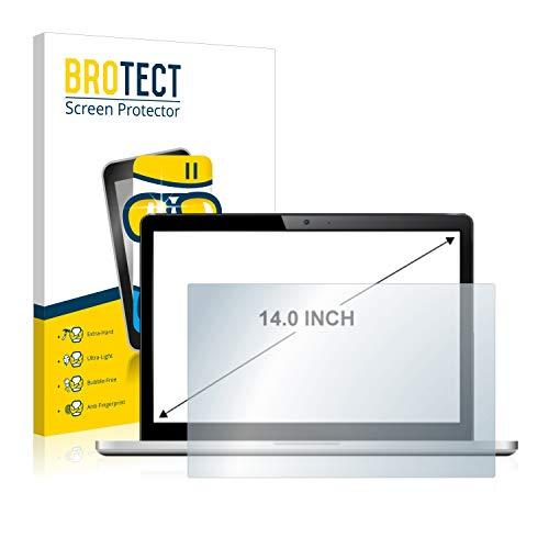brotect Pellicola Protettiva Vetro per Notebooks (14 Pollici) [305 mm x 185 mm, 15:9] Schermo Protezione Durezza 9H, Anti-Impronte, AirGlass